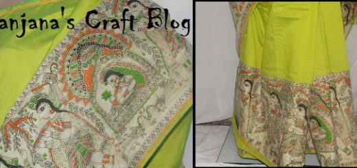 Saree with Madhubani prints
