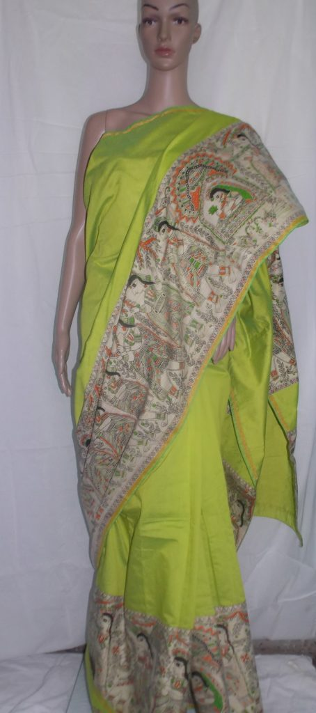 Madhubani design saree