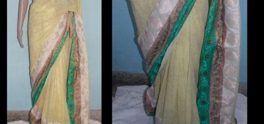 Patchwork saree