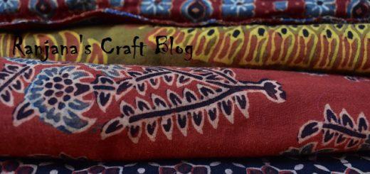 Ajrak Fabric