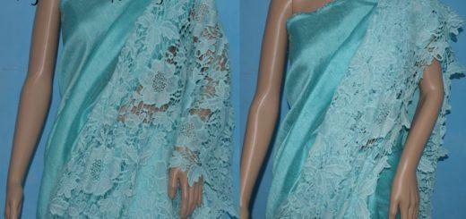Saree design with lace