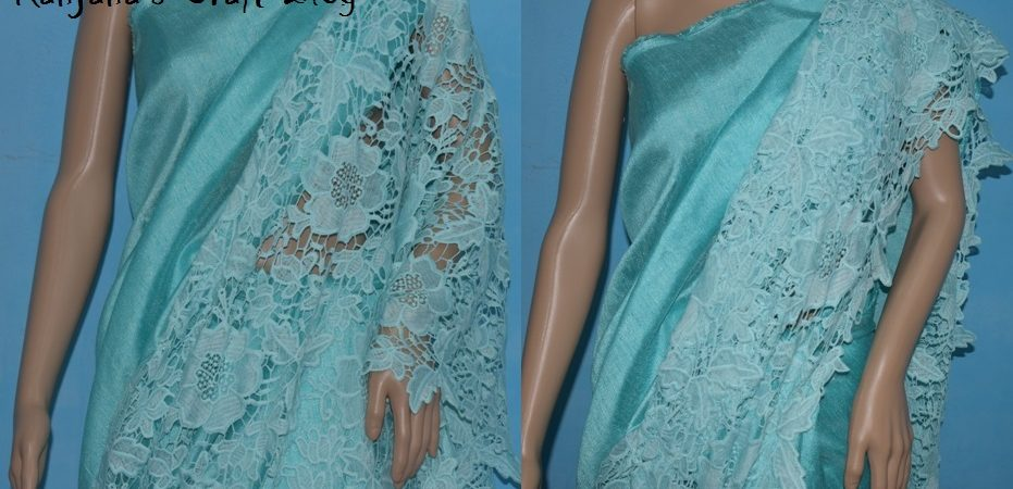 Saree design with lace