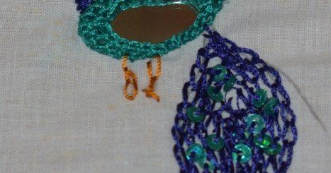 Mirror embroidery design