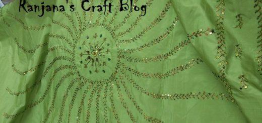 Feather stitch design
